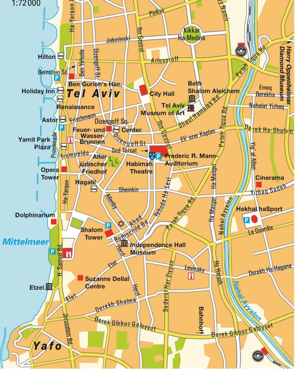 Map Of Tel Aviv Area Map Of Tel Aviv Area Israel